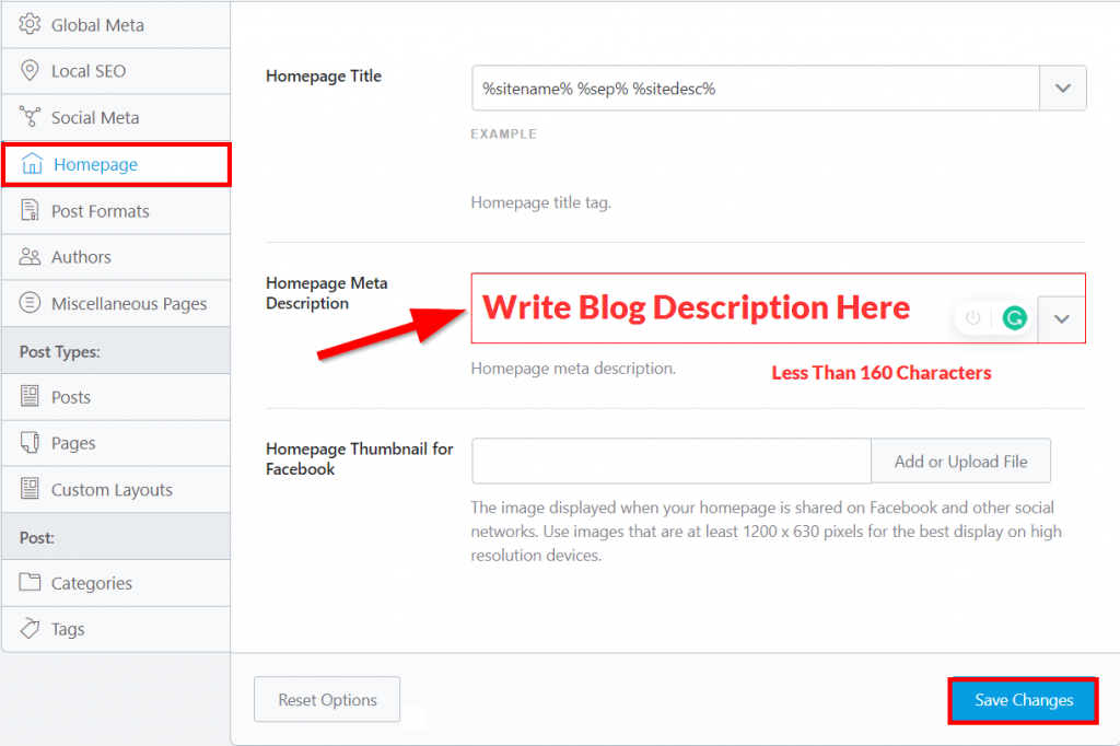 write blog description for your blog