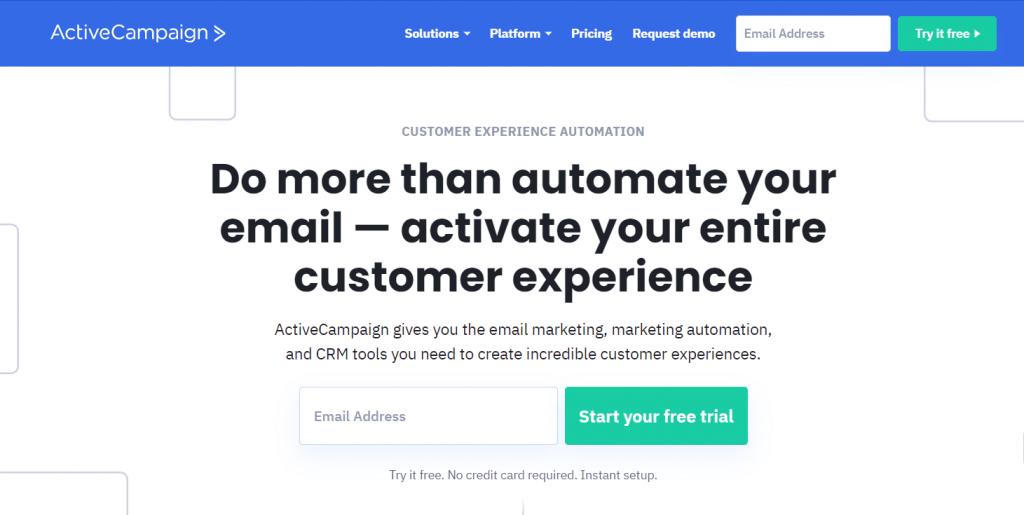 Best E-marketing services: Active Campaign