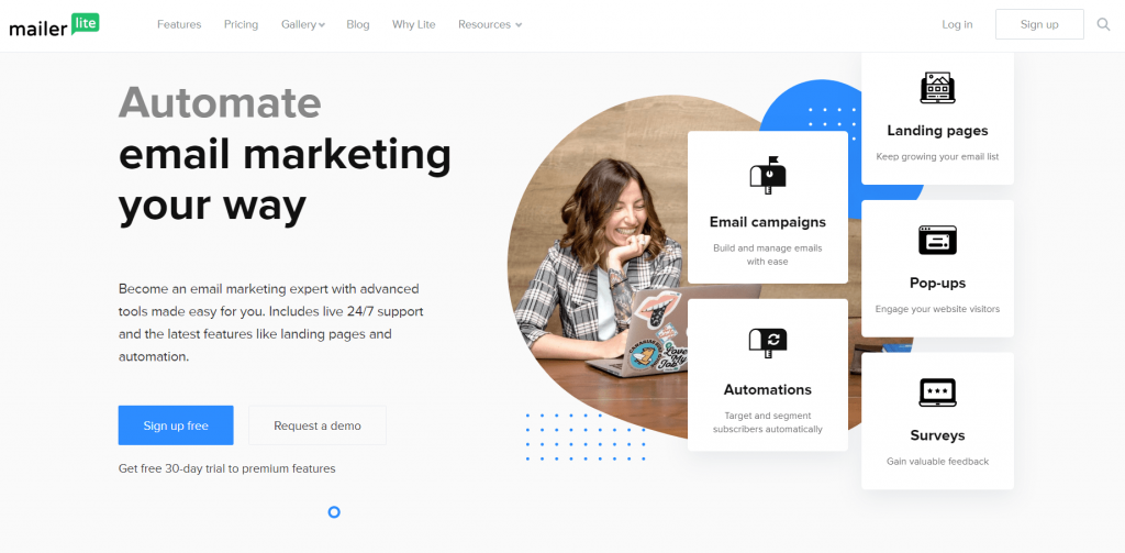 Best E-marketing services: Mailer Lite